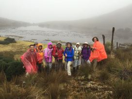 En un Páramo (ecosistema de alta montaña andino, con Amigos de la Montaña
