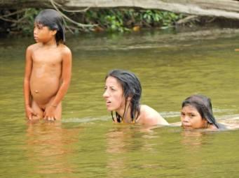 Nosotros en pueblo Kogui
