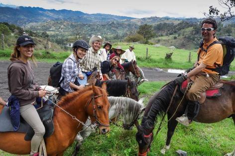 Cabalgata en Colombia