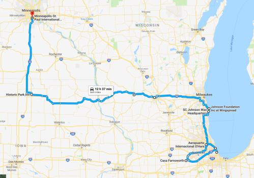 Road Map Chicago Minneapolis